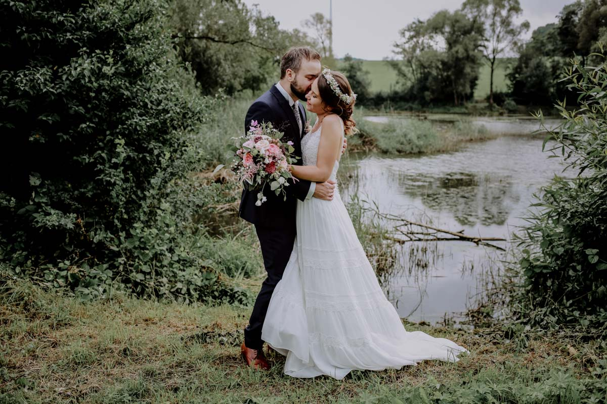 Brautpaarfotos am See