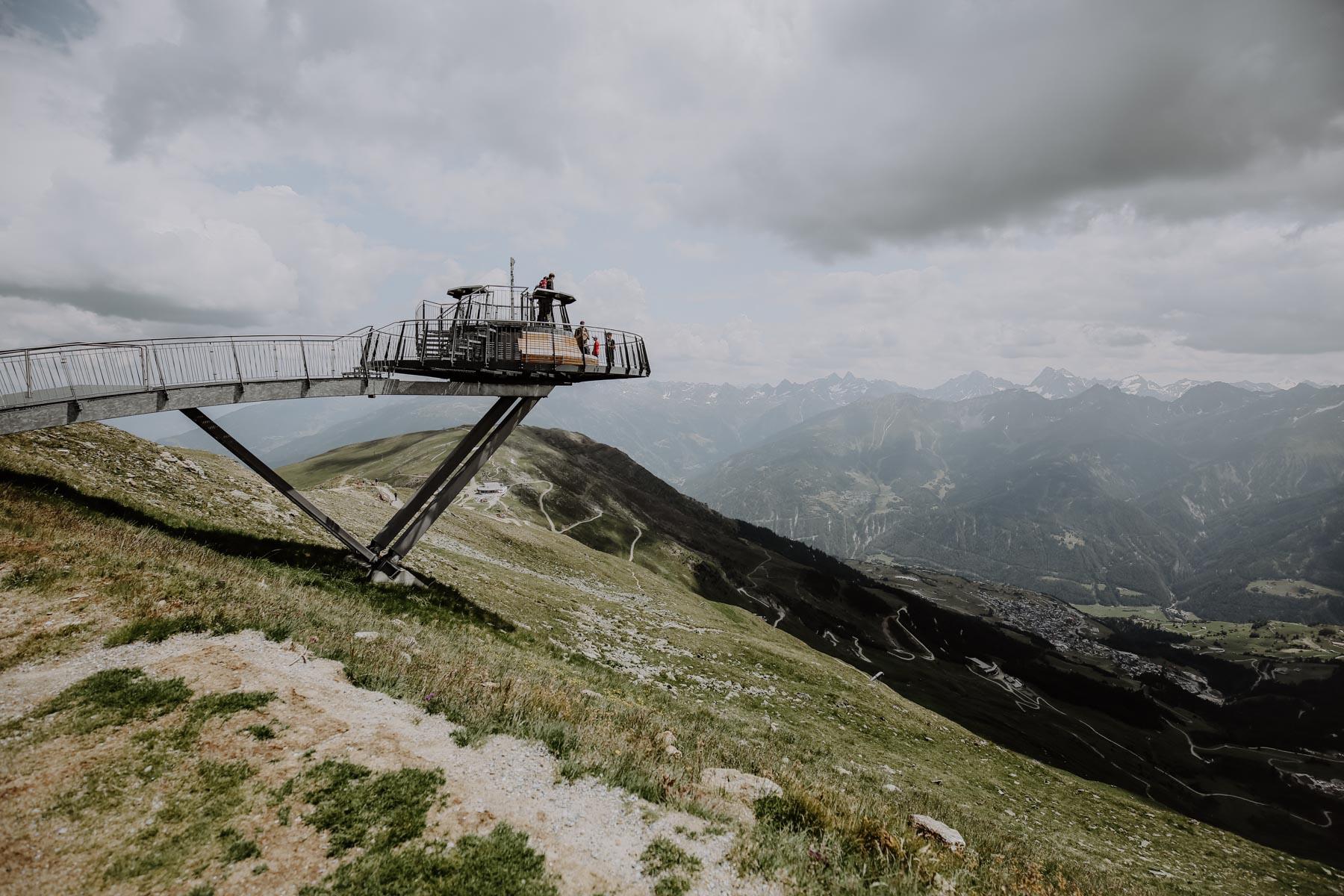 Aussichtsplattform auf Berg
